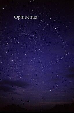 Sternbild Schlangenträger (Bildquelle: Wikipedia)