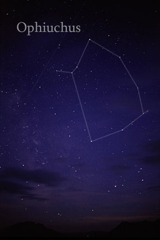 Ophiuchus - The constellation Ophiuchus as it can be seen by naked eye.