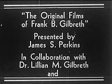 Súbor:Original Films Of Frank B Gilbreth (Part I).ogv