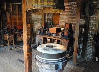 Neligh Mill - Image: Original Neligh Mill Stone