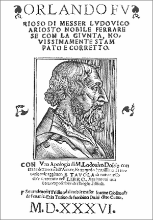 1516 in poetry - Title page, Ariosto's Orlando Furioso