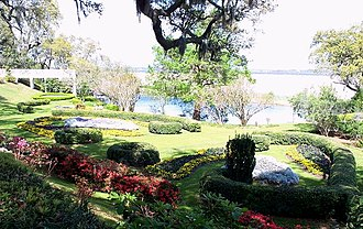 Orton Plantation - Orton Plantation Gardens overlooking the Cape Fear River