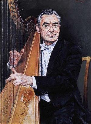 Osian Ellis - Portrait of Osian Ellis by David Griffiths.