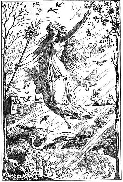 The original Easter celebration was a tribute to the pagan goddess Ēostre, also known as Ostara.