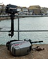 Outboard motors on West Pier, St Ives harbour - geograph.org.uk - 1548953.jpg
