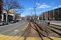 Outbound platform at Fordham Road stop, April 2017.JPG