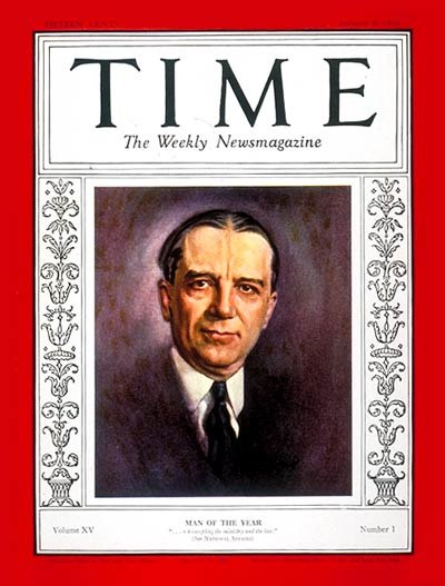 Owen D. Young on TIME Magazine, January 6, 1930