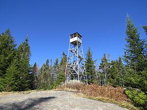 Owls Head Mountain - The Fire Tower on Owls Head Mountain, Long Lake, New York