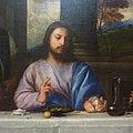 Pèlerins d'Emmaüs by Titian - Jesus detail.jpg