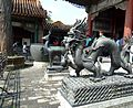 Pékin - Statue de Dragon face au Hall de la Bienveillance et de la Longévité au Palais d'Eté -.jpg