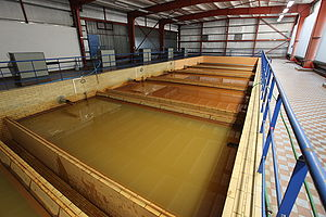 Water treatment - Tanks with sand filters to remove precipitated iron (not working at the time)