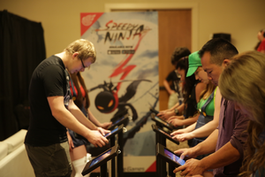NetEase - Gamers trying the new release of Speedy Ninja at PAX 2015