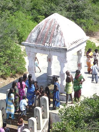Point Calimere - Ramar Padam shrine containing the footprints of Lord Rama in stone