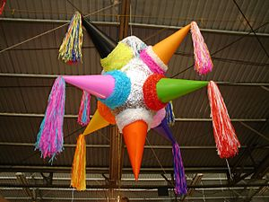A nine-pointed star piñata.