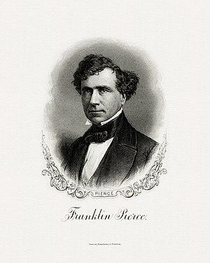 Presidency of Franklin Pierce - Image: PIERCE, Franklin President (BEP engraved portrait)