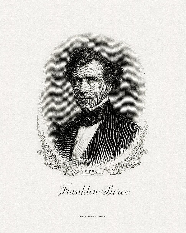 PIERCE, Franklin-President (BEP engraved portrait)