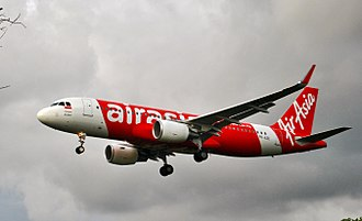 Indonesia AirAsia - An Indonesia AirAsia Airbus A320-200 about to land at Ngurah Rai International Airport.