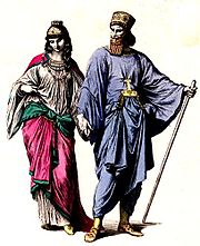Costumes of ancient Mede nobility.