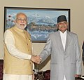PM Modi meets the President of Nepal Ram Baran Yadav.jpg