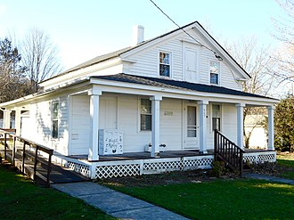 National Register of Historic Places listings in Bradford County, Pennsylvania - Image: PP Bliss House Rome PA 1