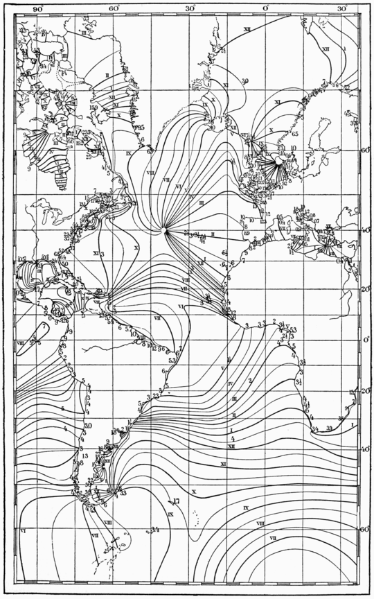 PSM V74 D537 Cotidal lines of the atlantic ocean.png