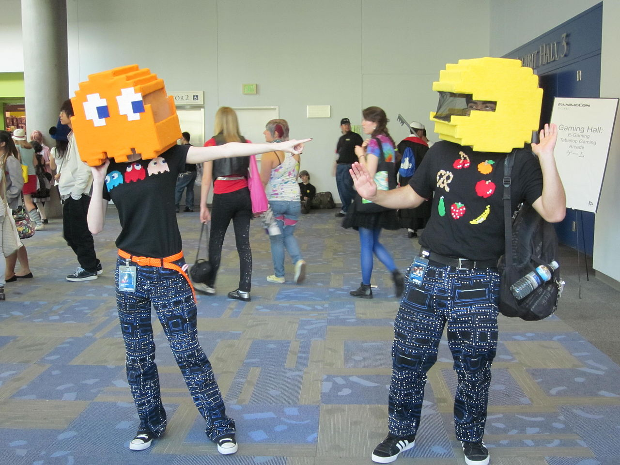 Image result for pacman and ghost cosplay