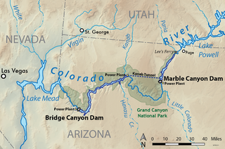 Bridge Canyon Dam proposed dam in the lower Grand Canyon of the Colorado River