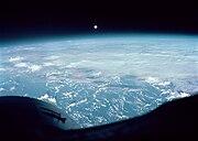 Pacific Ocean seen from Gemini 7