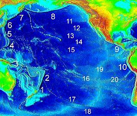 pacific ocean depth map  Pacific Ocean depth map