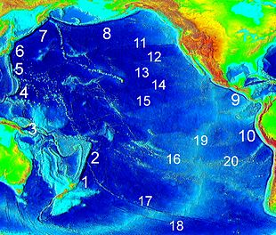 Pacific Ocean Topographic Map.Oceanic Trench Wikipedia