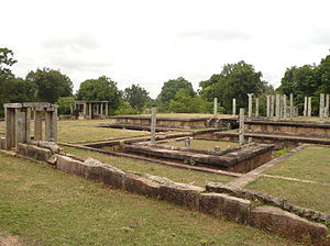 Padhanaghara - Double platform buildings, surrounded by a moat (Western monasteries at Anuradhapura)