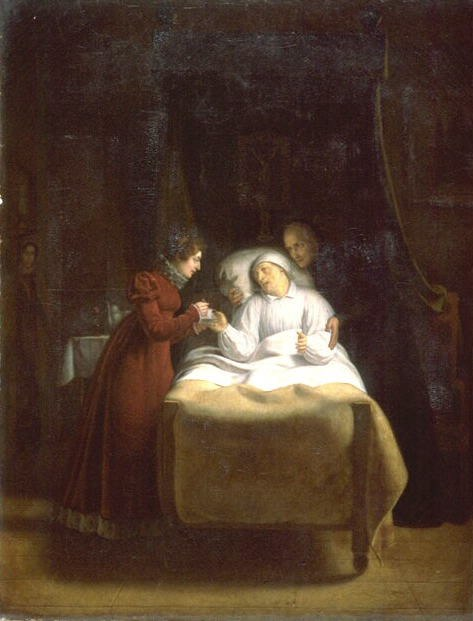 Painting, The Death of the Last Confessor of Louis XVI, Menjaud