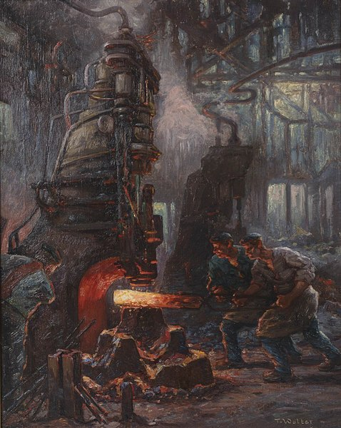 File:Painting of factory workers by Toni Anton Wolter.jpg
