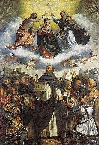 Romanino - Pala di san Domenico