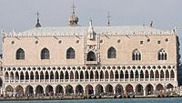 Photograph of the Palazzo Ducale in Venice, seen from the sea