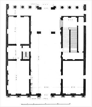 Palazzo Thiene Bonin Longare - Image: Palazzo Thiene Bonin Longare pianta B Scamozzi 1776