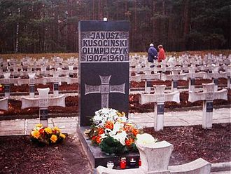 German AB-Aktion in Poland - Tomb of Janusz Kusociński in Palmiry