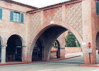 Palos Verdes Estates, California - Malaga Cove Plaza was built in a Spanish Renaissance style in 1925.