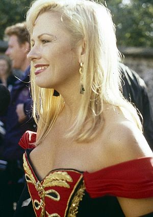 Pamela Stephenson - Stephenson at wedding ceremony of Sting and Trudie Styler, 1992