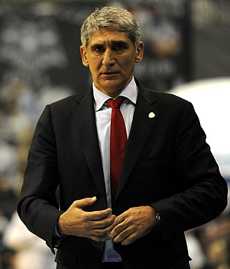 Panagiotis Giannakis - Giannakis, while working as the head coach of Olympiacos.