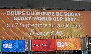 Panneau Coupe du monde de rugby 2007.JPG