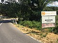 Panneau bilingue d'entrée dans Aggius (Sardaigne) et panneau banderia arancione en juillet 2016.jpg