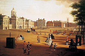 Horse Guards Parade - The Coldstream Guards on Parade at Horse Guards, by John Chapman, c. 1755.
