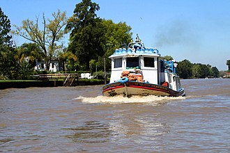 Paraná Delta - A characteristic provision barge in the Lower Delta