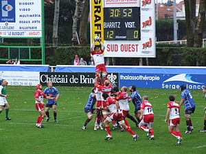 Biarritz Olympique - 2006 Heineken Cup action against the Border Reivers.