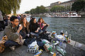 Paris - Students watching the sunset by the Seine - 4673.jpg