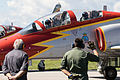 Patrulla Águila on CASA C-101EB Aviojet (21904566158).jpg