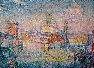 Musée Cantini - Paul Signac, L'entrée du port de Marseille, 1911, oil on canvas, 116.7 x 162 cm