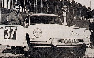 Pauli Toivonen - Toivonen after winning the 1962 1000 Lakes Rally