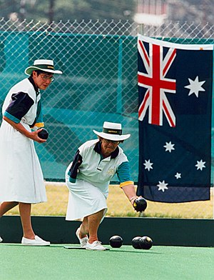 Disability classification in lawn bowls - An amputee bowler at the 1996 Summer Paralympics